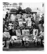 Bw Classic Car Trunk Decor Day Dead  Fleece Blanket