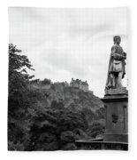 Bw Edinburgh Scotland  Fleece Blanket
