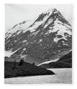Bw Glacier Alaska  Fleece Blanket