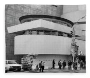 Bw Guggenheim Museum Nyc  Fleece Blanket