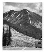 Bw Mobile Home Travel Alaska  Fleece Blanket