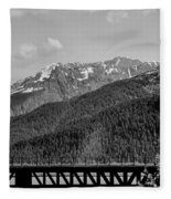 Bw Rail Alaska  Fleece Blanket