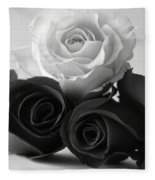 Bw Roses #021 Fleece Blanket