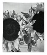 Bw Sunflowers #002 Fleece Blanket