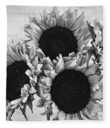 Bw Sunflowers #010 Fleece Blanket