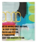 By Prayer And Petition- Contemporary Christian Art By Linda Wood Fleece Blanket