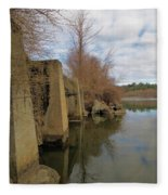 By The Bridge Fleece Blanket