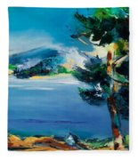 By The Lake Fleece Blanket
