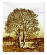 By The Lake Fleece Blanket