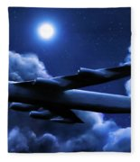 By The Light Of The Blue Moon Fleece Blanket