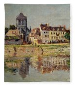 By The River At Vernon Fleece Blanket