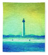 By The Sea - Cape May Lighthouse Fleece Blanket