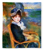 By The Seashore 1883 Fleece Blanket