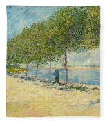 By The Seine Fleece Blanket