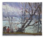 By Tonawanda Canal Fleece Blanket