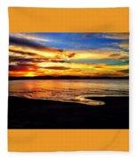 Byron Bay Sunset  Fleece Blanket