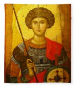 Byzantine Knight Fleece Blanket