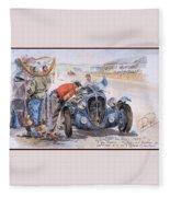 c 1949 the delahaye 135 s driven by giraud and gabantous Roy Rob Fleece Blanket