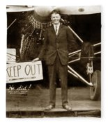 Charles A. Lindbergh And Spirit Of St. Louis 1927 Fleece Blanket