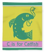 C Is For Catfish Kids Animal Alphabet Fleece Blanket