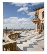 Ca D'zan Mansion Sarasota Fleece Blanket