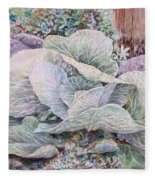 Cabbage Head Fleece Blanket