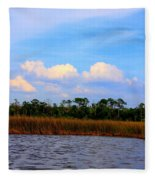 Cabbage Palms And Salt Marsh Grasses Of The Waccasassa Preserve Fleece Blanket