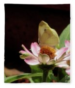 Cabbage White Butterfly Fleece Blanket