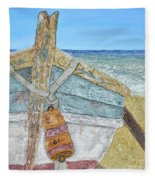 Cabbing Skiff  Fleece Blanket