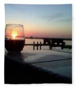 Cabernet Sunset Fleece Blanket