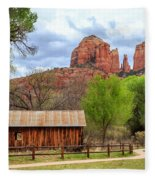 Cabin At Cathedral Rock Fleece Blanket