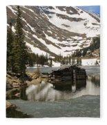 Cabin At Chinns Lake Fleece Blanket