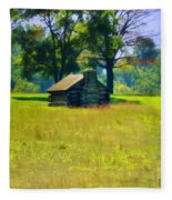 Cabin At Valley Forge Fleece Blanket