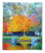 Cabin In The Park II Fleece Blanket