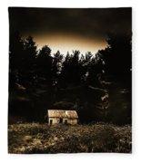 Cabin In The Woodlands  Fleece Blanket