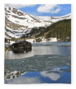 Cabin On Chinns Lake 2 Fleece Blanket