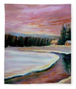 Cabin Retreat Fleece Blanket