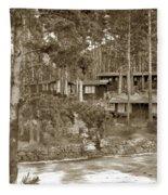 Cabins At Carmel Highlands Inn Circa 1930 Fleece Blanket