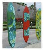 Cabo Surfboard Sculpture 1 Fleece Blanket