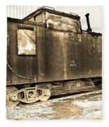Caboose Black And White Fleece Blanket