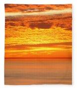 Cabrillo Sunset Fleece Blanket