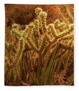 Cacti Family Reunion Fleece Blanket
