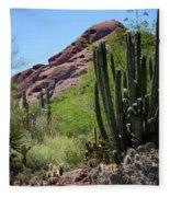 Cacti Garden Fleece Blanket