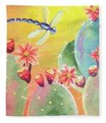 Cactus And Firefly Fleece Blanket