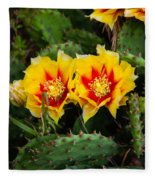 Cactus Bloom Fleece Blanket