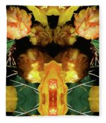 Cactus Flower 08-005 Abstract Fleece Blanket