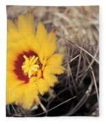 Cactus Flower Fleece Blanket
