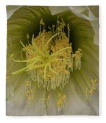 Cactus Flower Macro Fleece Blanket