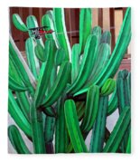 Cactus Fly By Fleece Blanket