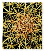 Cactus From Top Fleece Blanket